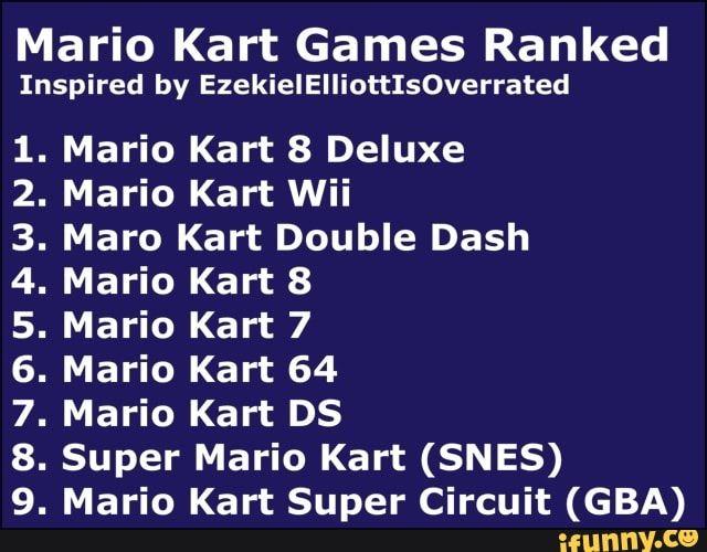 Mario Kart Games Ranked Inspired By Ezekielelliottisoverrated