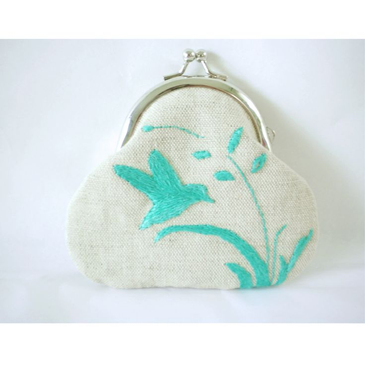 Sjoti Hand Embroidered Frame Coin Purse