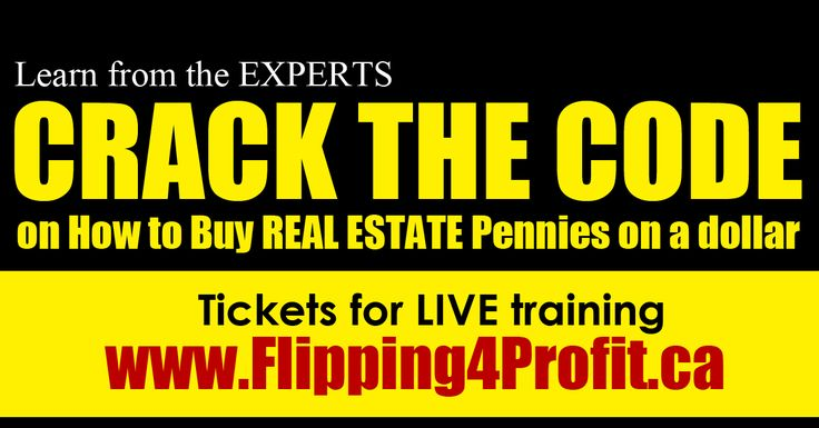 Fastest way to make money FLIP Houses crash course  http://www.Flipping4Profit.ca    #1  #FASTEST  #Make2018Great  #money  #realestate  #flipping  #houses  #Crash  #Course  #Seminar  #Toronto #CanadianExperts #Proven   Tickets for LIVE Canadian real estate Flipping Seminar  http://www.Flipping4Profit.ca  1-416-409-7300 call/text