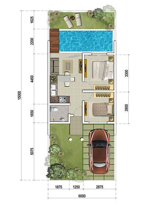 94 Gambar Desain Rumah 6x15 Kolam Renang Yang Bisa Anda Tiru