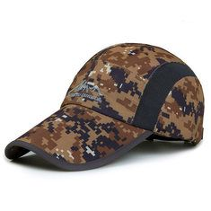 Men Women Army Camouflage Baseball Cap Outdooors Sports Quick Drying Ultra Thin Breathable Waterproof Hat