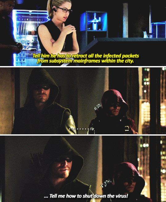 Felicity, Arrow & Arsenal #Arrow #TheSecretOriginOfFelicitySmoak