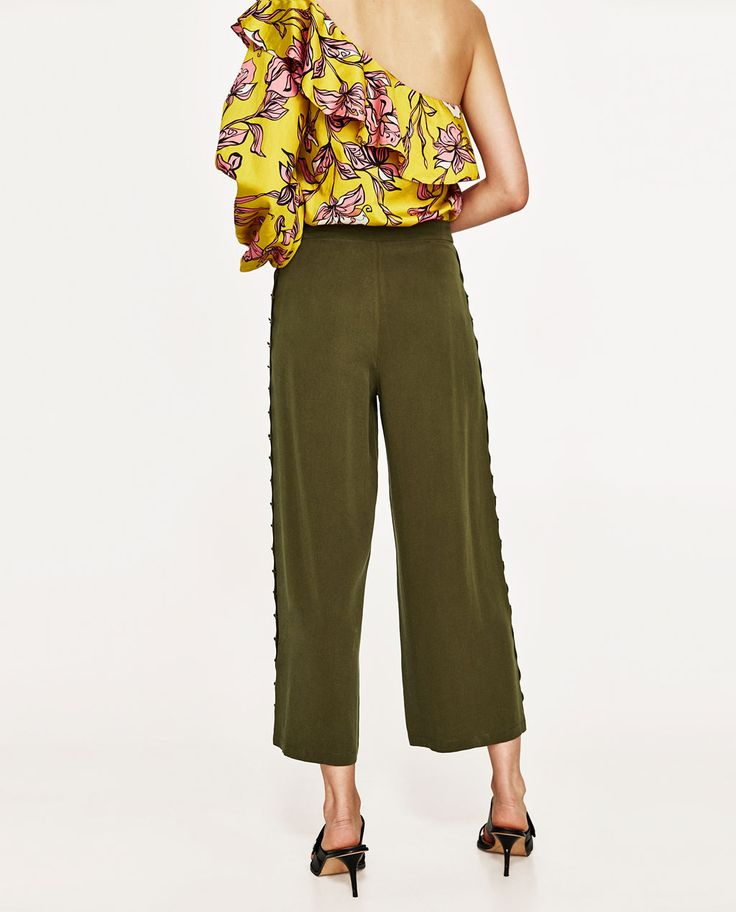 CROPPED TROUSERS WITH BUTTONS-NEW IN-WOMAN | ZARA United Kingdom
