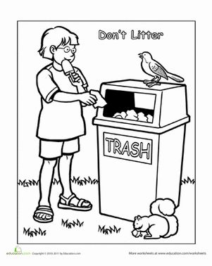 keeping clean coloring pages - photo#36