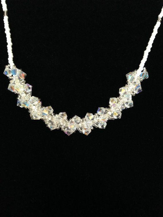 Crystal spiral necklace.