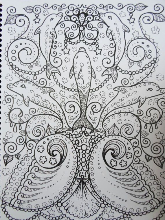 dolphins coloring book you be the artist fun by chubbymermaid