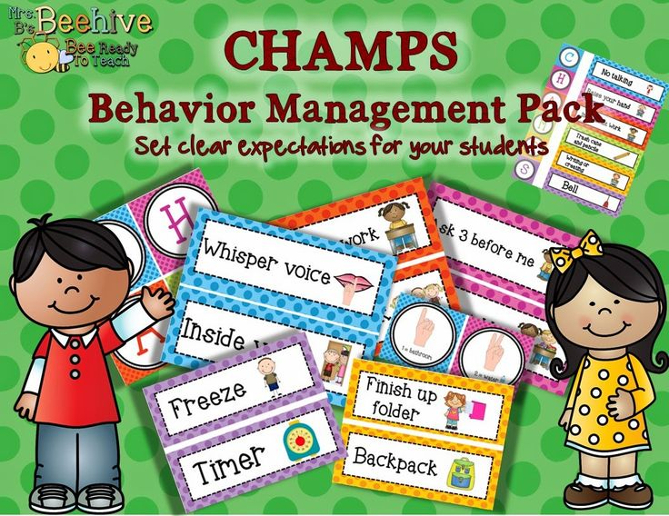 CHAMPS Behavior Management System - Great to use with PBIS. Setting Clear behavior expectations for your students!