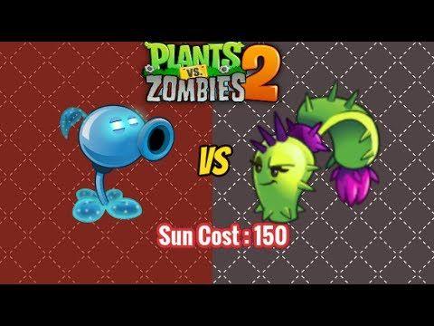 Plants vs Zombies 2 - SNOW PEA VS DUSK LOBBER NEW!!