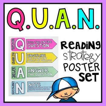 A strategy your students will LOVE! Are you ready to help your students answer tough questions? Get ready to ... HIT THE QUAN Q - read the entire question U - underline important words or phrases A - answer the question N - note evidence.
