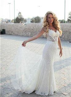 Perth Stunning Mermaid Wedding Dresses Backless Straps