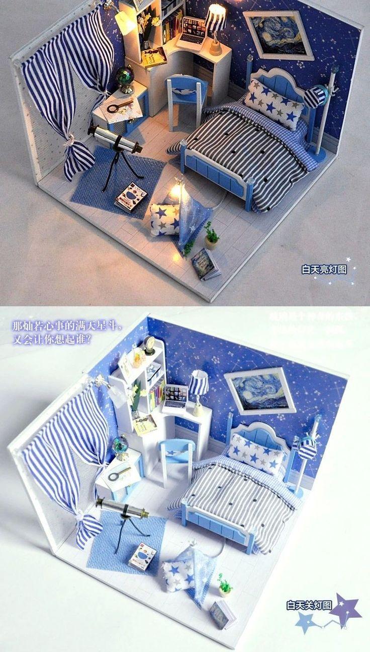 Aliexpress.com: Compre Diy bonecas de madeira de boneca em miniatura 3D modelo de montagem artesanal construção Kits Dollhouse de madeira brinquedo brinquedos presente de aniversário criativo de confiança Presentes de aquecimento da casa fornecedores em HELLO, LADY
