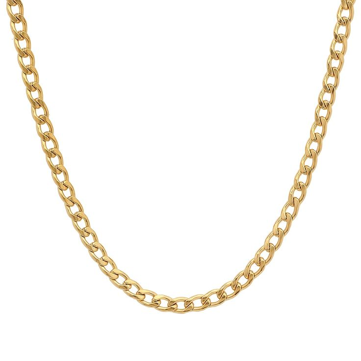 Steeltime Stainless Steel Figaro Chain Necklace