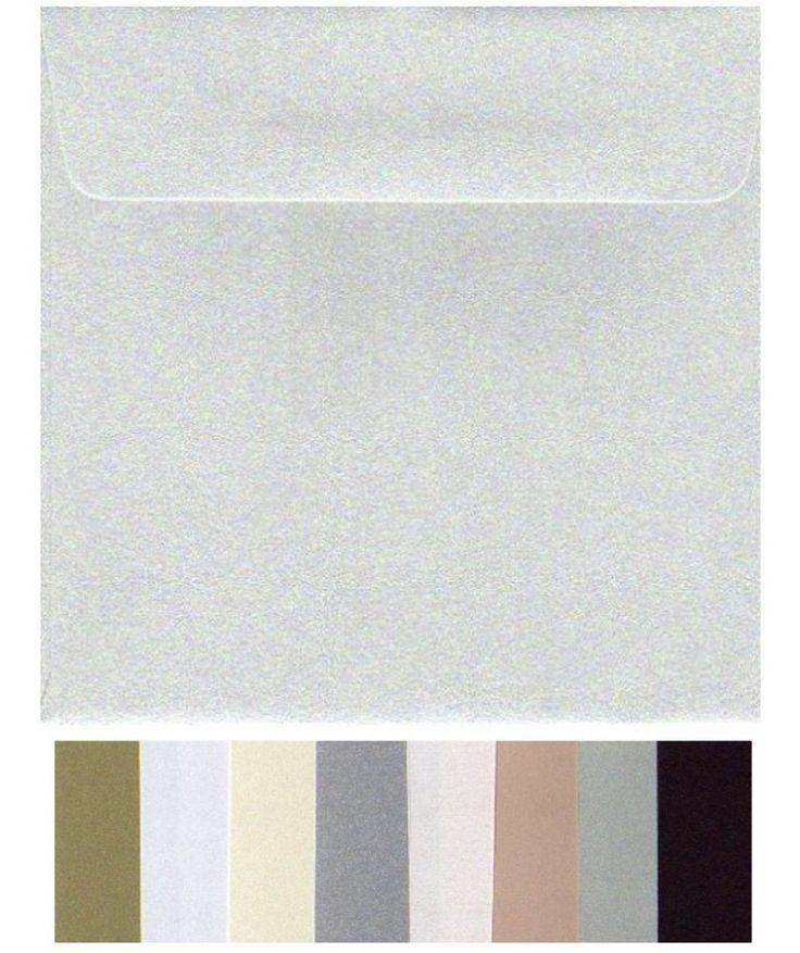 NEW 160mm Square Envelopes (20) Quality Metallic Colours 16cm x 16cm colours