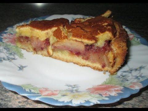 Яблочный пирог с брусникой рецепт с фото