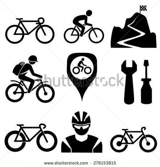 Bicycle Icons Vector Bicycles Bicycles Vector Bicycle Tattoo Bike Tattoos Bicycle Art