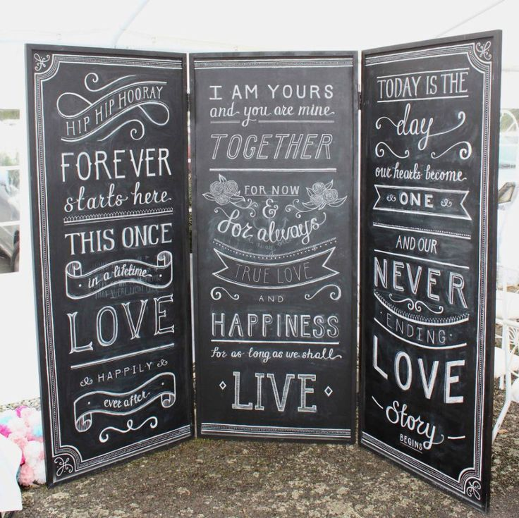 chalkboard backdrop / lifesize / chalk art / wedding / arbour alternative / ceremony / backdrop inspo