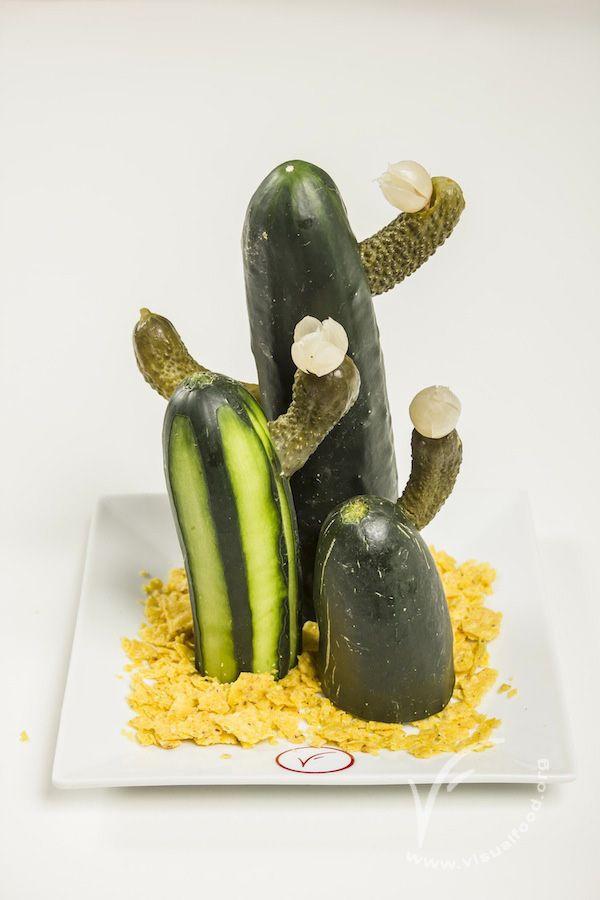 Cactus di cetriolo #visualfood