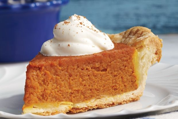 This classic pie uses sugar, or pie, pumpkins, which are abundant in the fall. They are much smaller than jack-o'-lantern pumpkins; one average-size sugar pumpkin will yield enough purée for just a single pie.