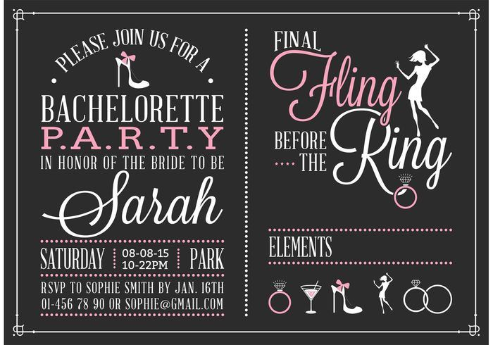 14 best Bachelorette Party Invitations images on Pinterest