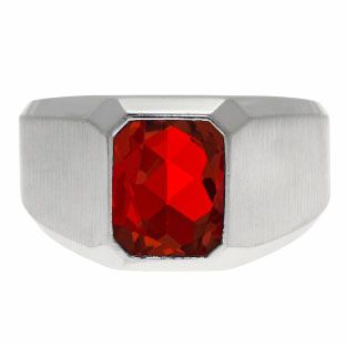 Emerald-Cut Ruby Gemstone Custom Ring For Men In White Gold Gemologica.com offers a unique selection of mens gemstone and birthstone rings crafted in sterling silver and 10K, 14K and 18K yellow, white and rose gold. We have cool styles including wedding and engagement rings, fashion rings, designer rings, simple stone and promise rings. Our complete jewelry collection of gemstone rings for men can be seen here: www.gemologica.com/mens-gemstone-rings-c-28_46_64.html
