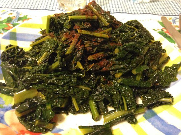 Cavolo nero saltato in padella (ricetta contorno)