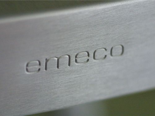 aluminum chairs emeco brushed and polished furniture