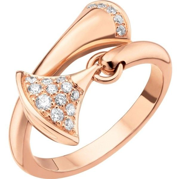 bvlgari divasu0027 dream 18kt pinkgold and diamond ring sar