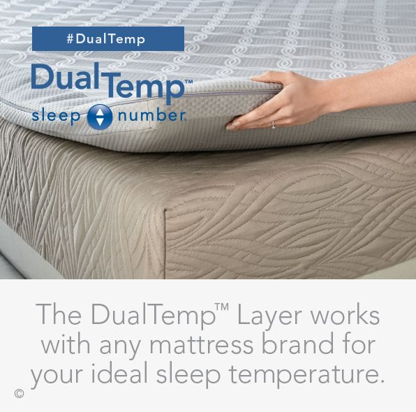 The #DualTemp Layer works with any mattress brand while allowing you to customize your #bed's temperature with the touch of a button.