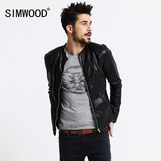 SIMWOOD Brand Motorcycle Leather Jackets Men Autumn Winter Clothing Men Leather Jackets Male Casual Coats Free Shipping PY2501 (32610833556)  SEE MORE  #SuperDeals