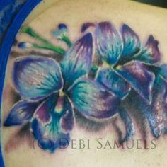 blue orchid tattoo - Google Search
