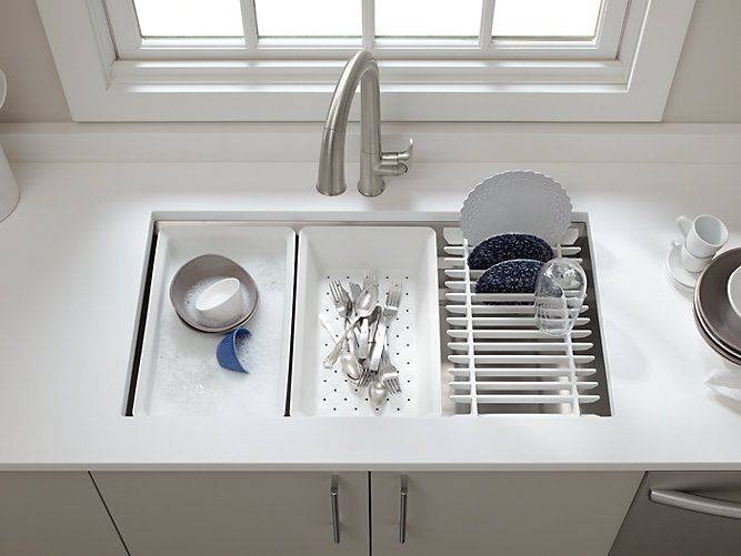 The Innovative K 5540 Kitchen Sink Has Basin Ledges At Three Levels So You