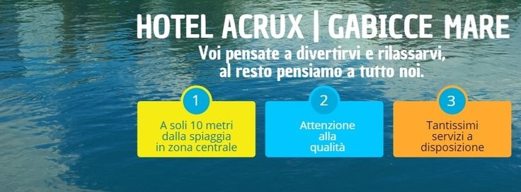 #gabicce #destinazionemarche #hotelacrux