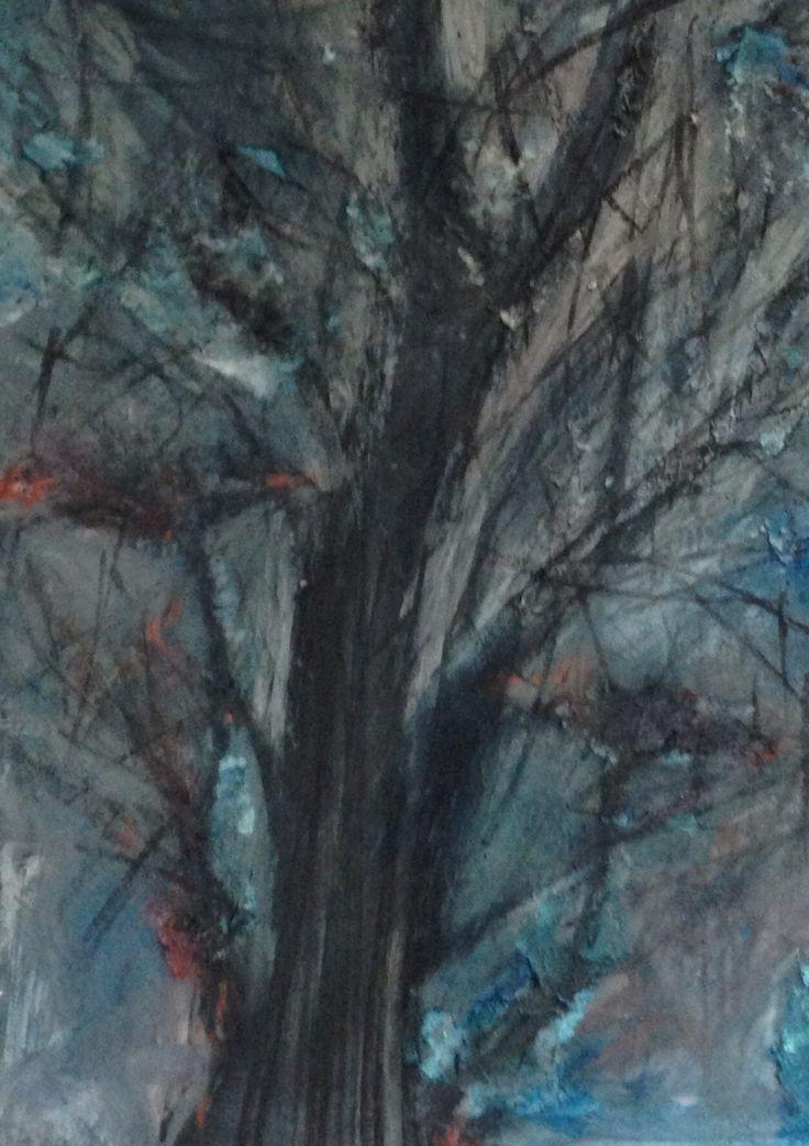 Tree texture painting