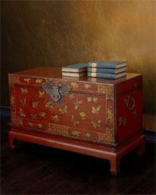 Antique Butterfly Trunk