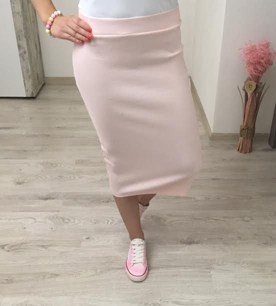 Tepláková sukňa púdrová