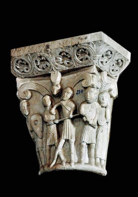 Capitel romanico,de algun monasterio español.