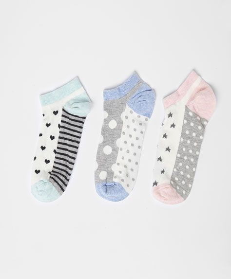 Pack of print ankle socks - OYSHO