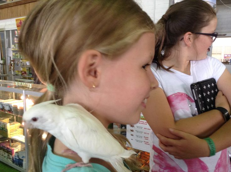 Me with holly at my house with my pet bird snow