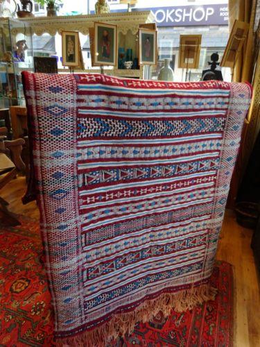 Превосходный узор винтаж марокканский племенной палатка двери гобелен геометрические килим | eBay