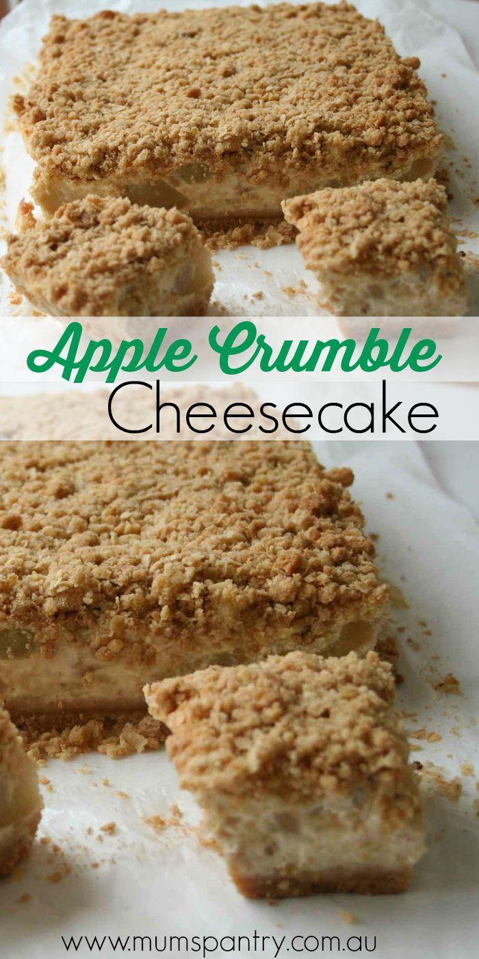 Apple Crumble Cheesecake Slice - Mum's Pantry