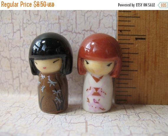 SALE KOKESHI Japanese Dolls Doll Kimmidol Japan Good Luck Wish Art Traditional Toys - French Feve Feves Figurines Doll House MiniaturesX21