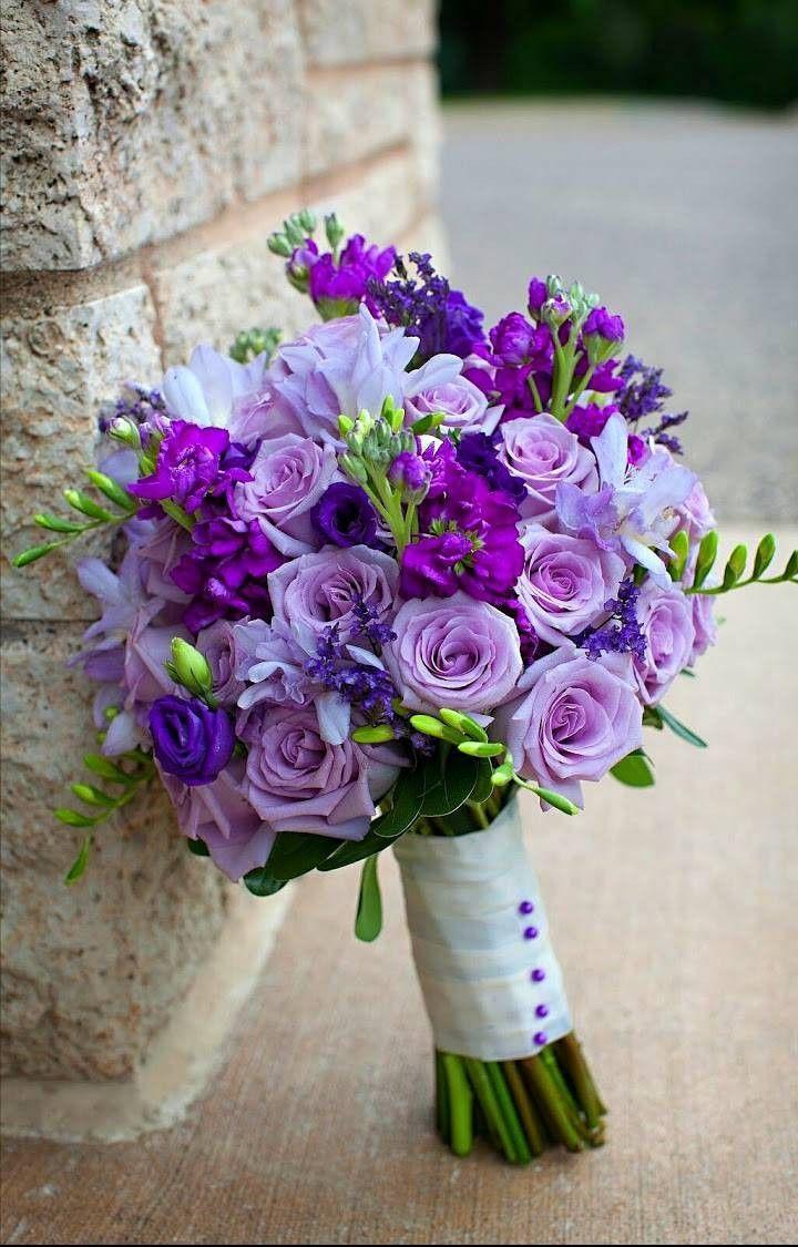 Фиолетовые букеты невесты купить, цветов