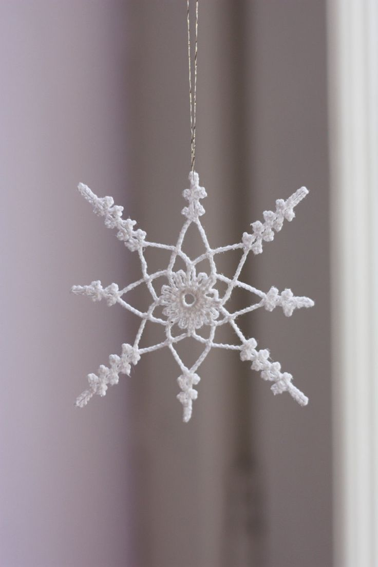Crochet snowflake. Crochet-Snowflakes Pinterest