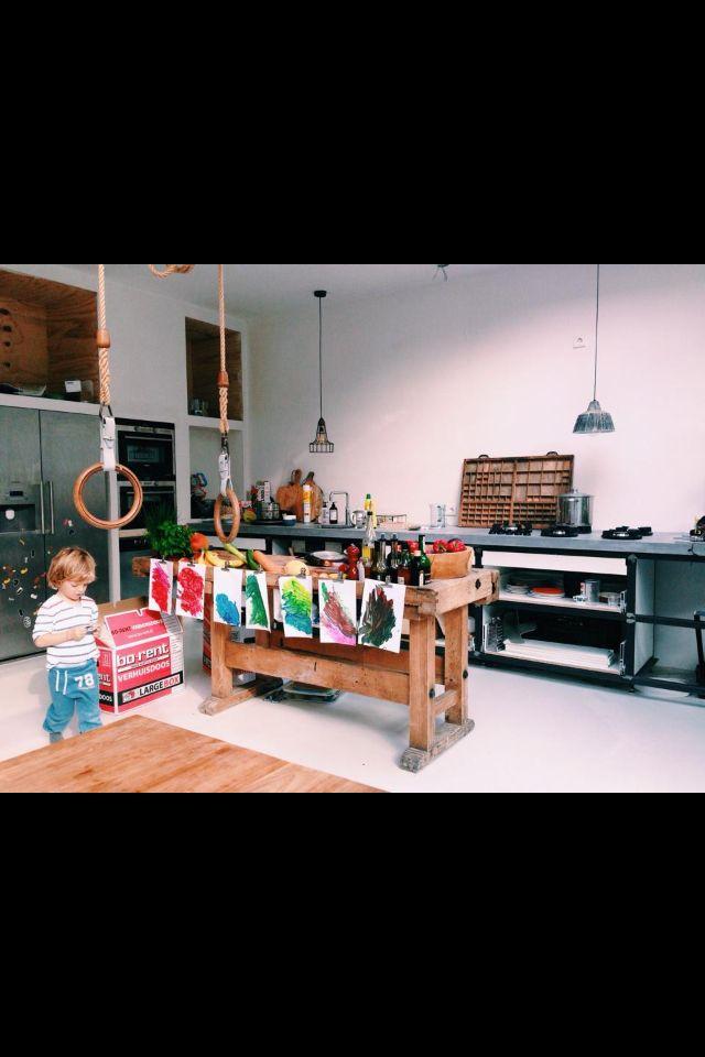 Werkbank en inbouwkast keuken apparatuur