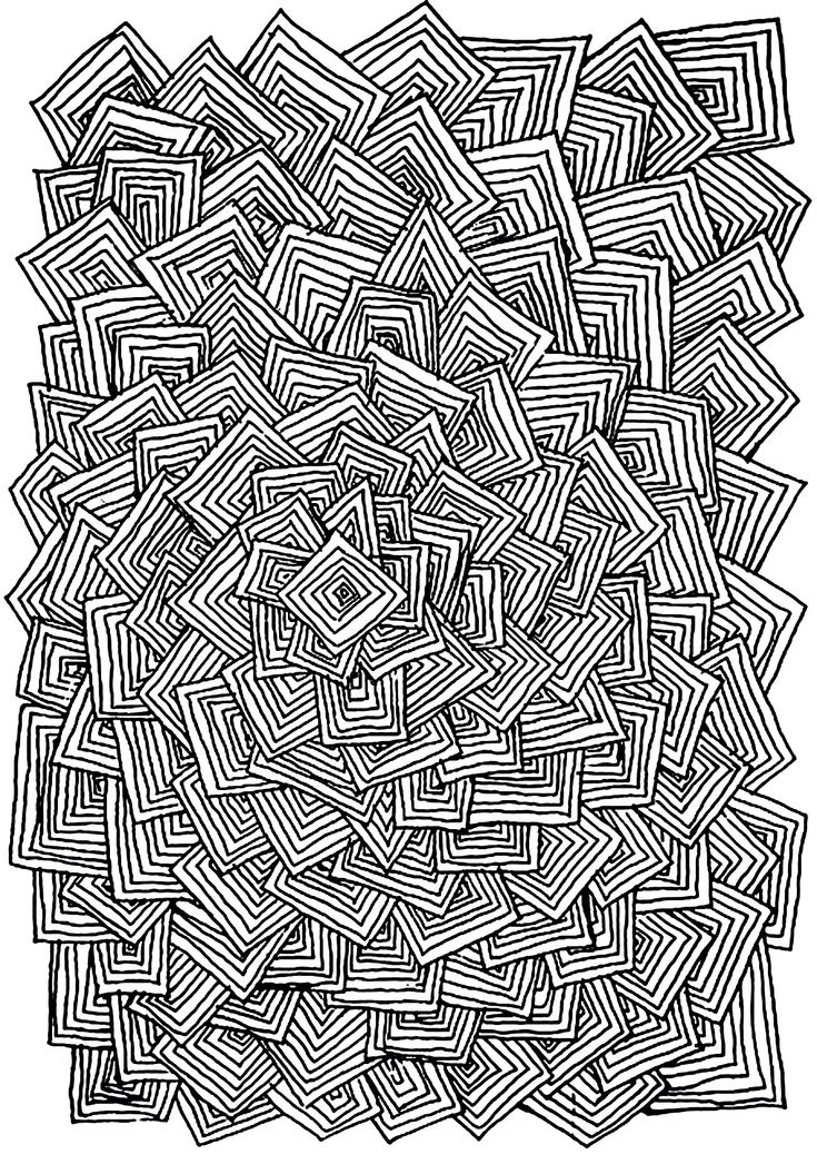 free coloring page coloring adult relax squares many square entangled without logic