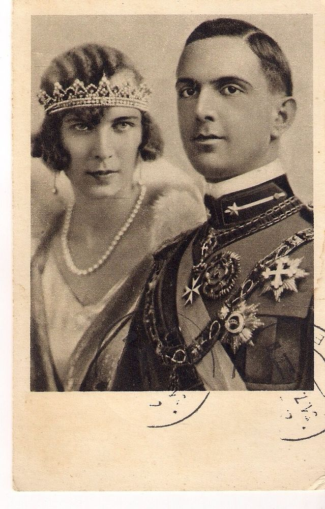 Italy Old Postcard Of Umberto Of Savoy And Maria Jose Of Belgium