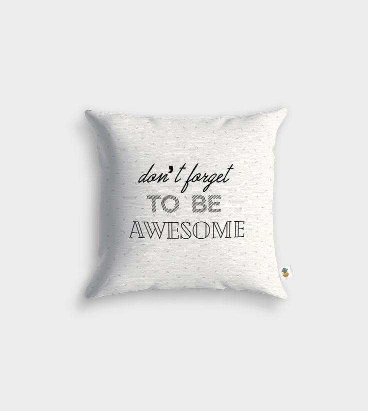 Housse de coussin design pensée spécialement pour vous. Dimensions : 30x30 ; 45x45cm ou 60x60cm. #life #quote #awesome #coussin #home #déco
