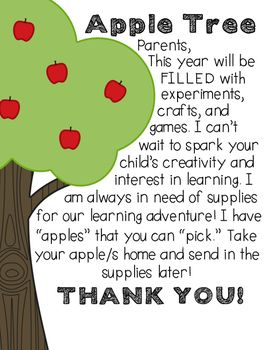 Use this product to display during your OPEN HOUSE night. I place the parent letter in a simple 8x10 picture frame that I bought from the dollar tree. Then I type which items I need for the school year (in the EDITABLE apples) and simply print and cut.