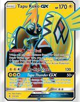 Pokemon Card: TAPU KOKO GX 135/145 Guardians Rising Full Art Holo Ultra Rare NM