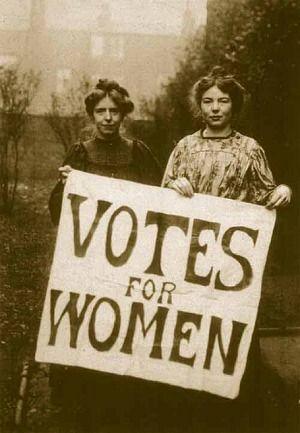#Coeduca_INTEF  Votes for Women picture. #Welfare reform